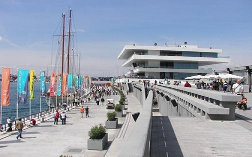 Interior de la darsena del puerto de Valencia