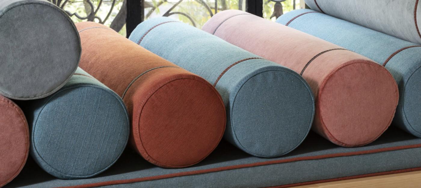 cojines tapizados con tejidos Gancedo 2019