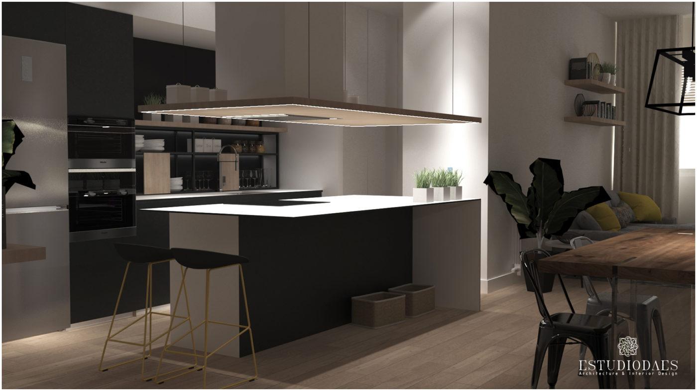 proyecto de interiorismo apartamento en calle sueca