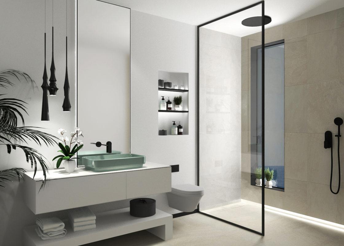 baño del proyecto de interiorismo de apartamento en benicassim