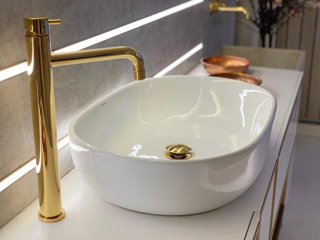 lavabo del proyecto interiorismo centro wellness dr Serrano en Valencia