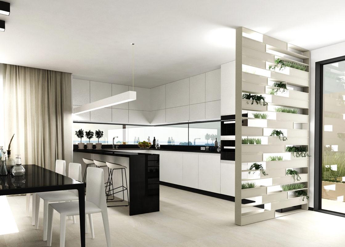 cocina del proyecto de interiorismo de apartamento en benicassim