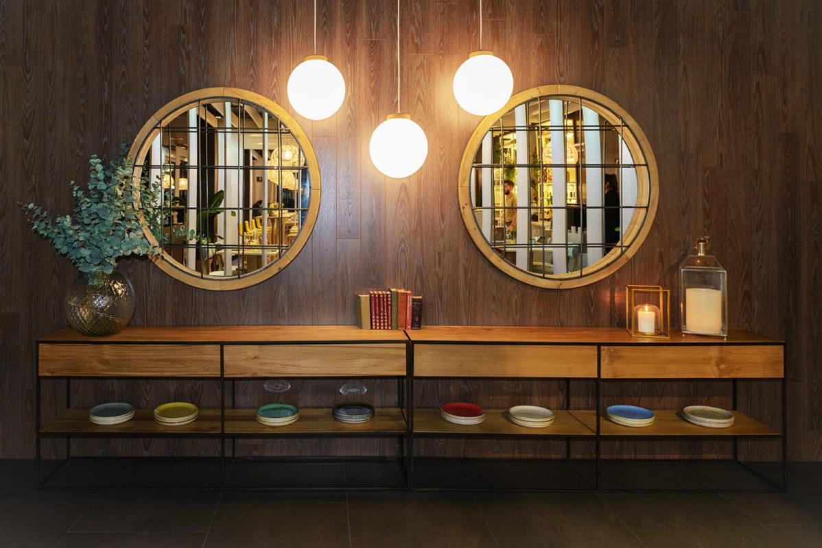 parte del comedor del proyecto de interiorismo del restaurante en madrid Be Vivo