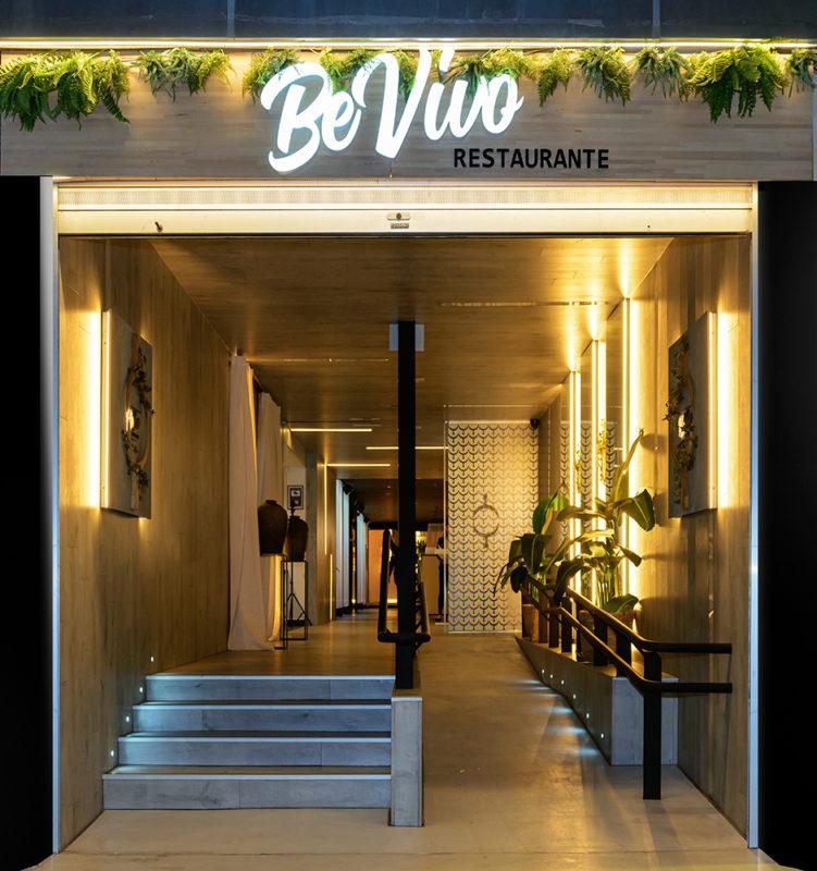 entrada del proyecto de interiorismo del restaurante en madrid Be Vivo