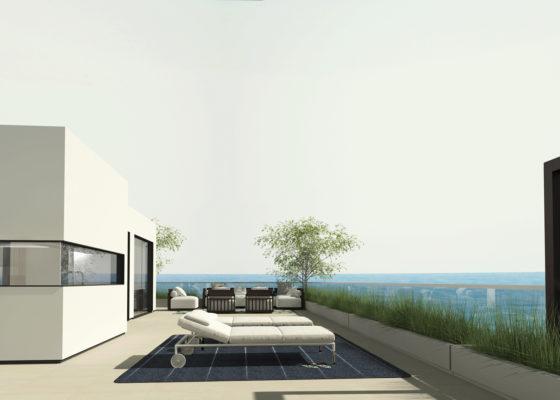 terraza del proyecto de interiorismo de apartamento en benicassim