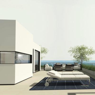 terraza del proyecto de interiorismo de atico en benicassim