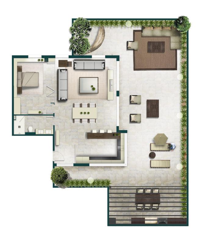 plano propuesta apartamento Benicassim