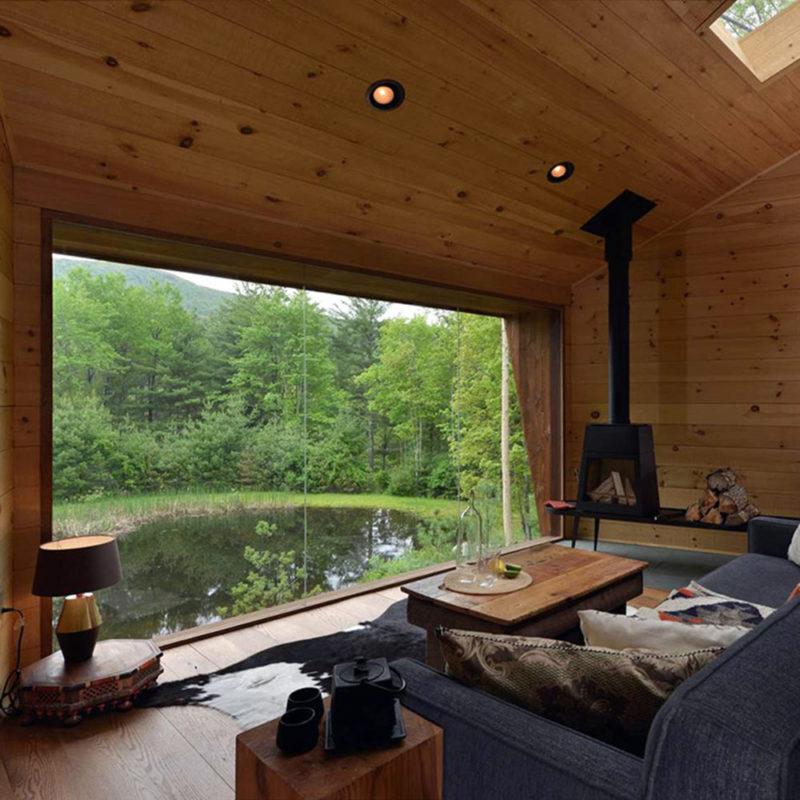 Vistas desde el interior de la casa de un arbol