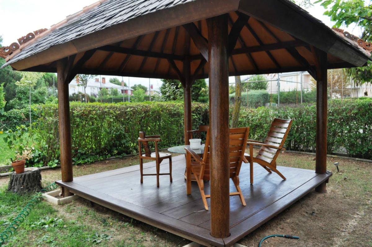 techo sintetico imitación madera