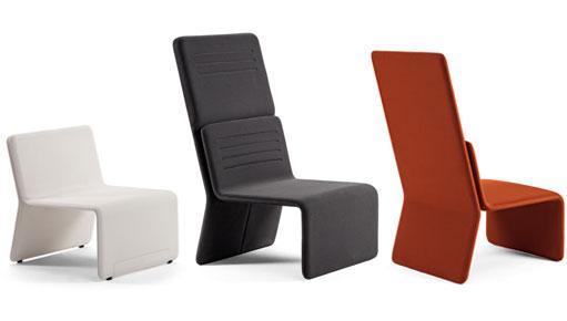 asientos de oficina inteligente ajustables en colores rojo negro y blanco