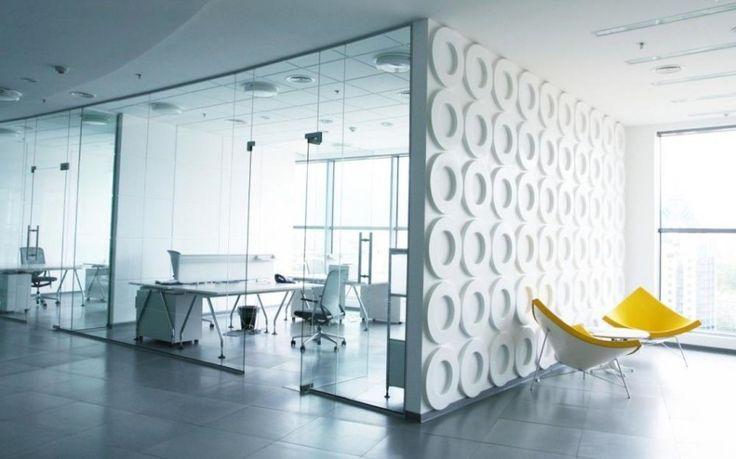 diseño de mamparas separando despachos