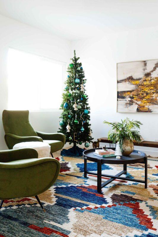 Combinar los colores en la decoración de Navidad