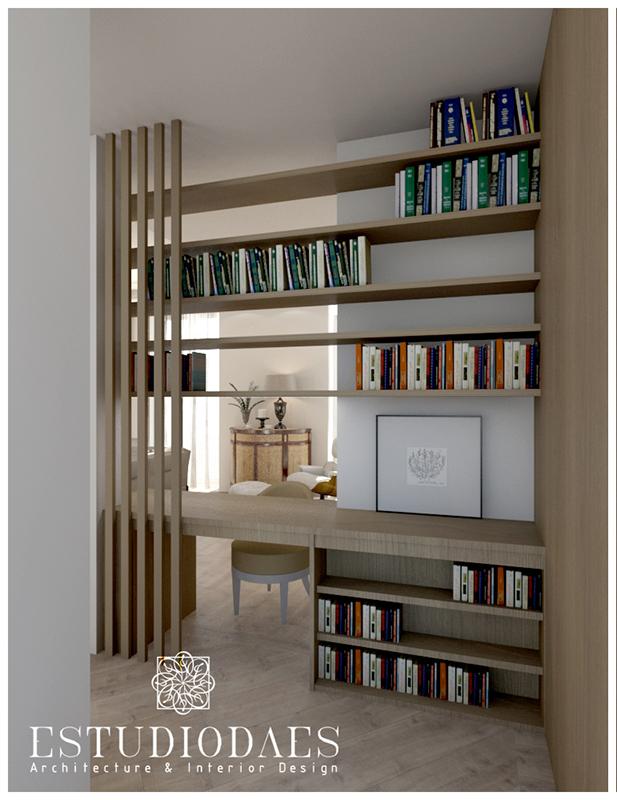 Diseño de pisos con estanterías altas