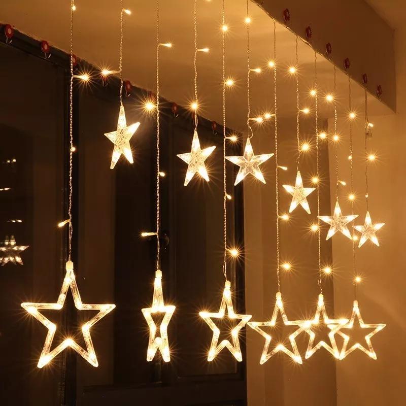 Cortinas luces led navidad estrella