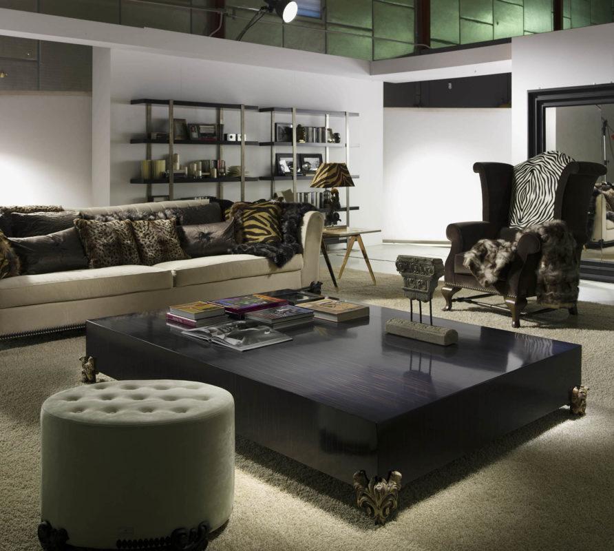 Ambiente de sofa mesa y taburete de lujo ascension latorre