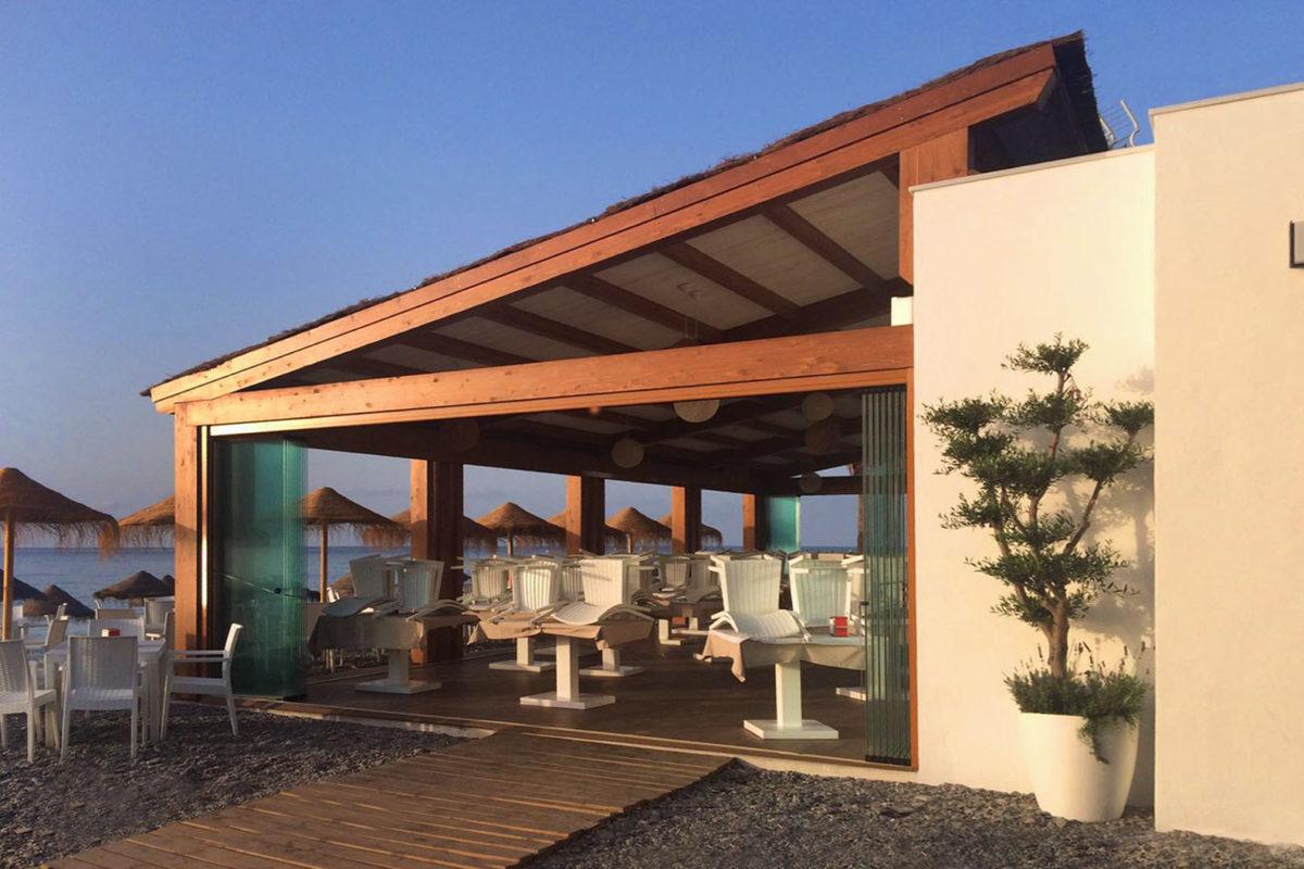 diseño restaurante primera linea de playa