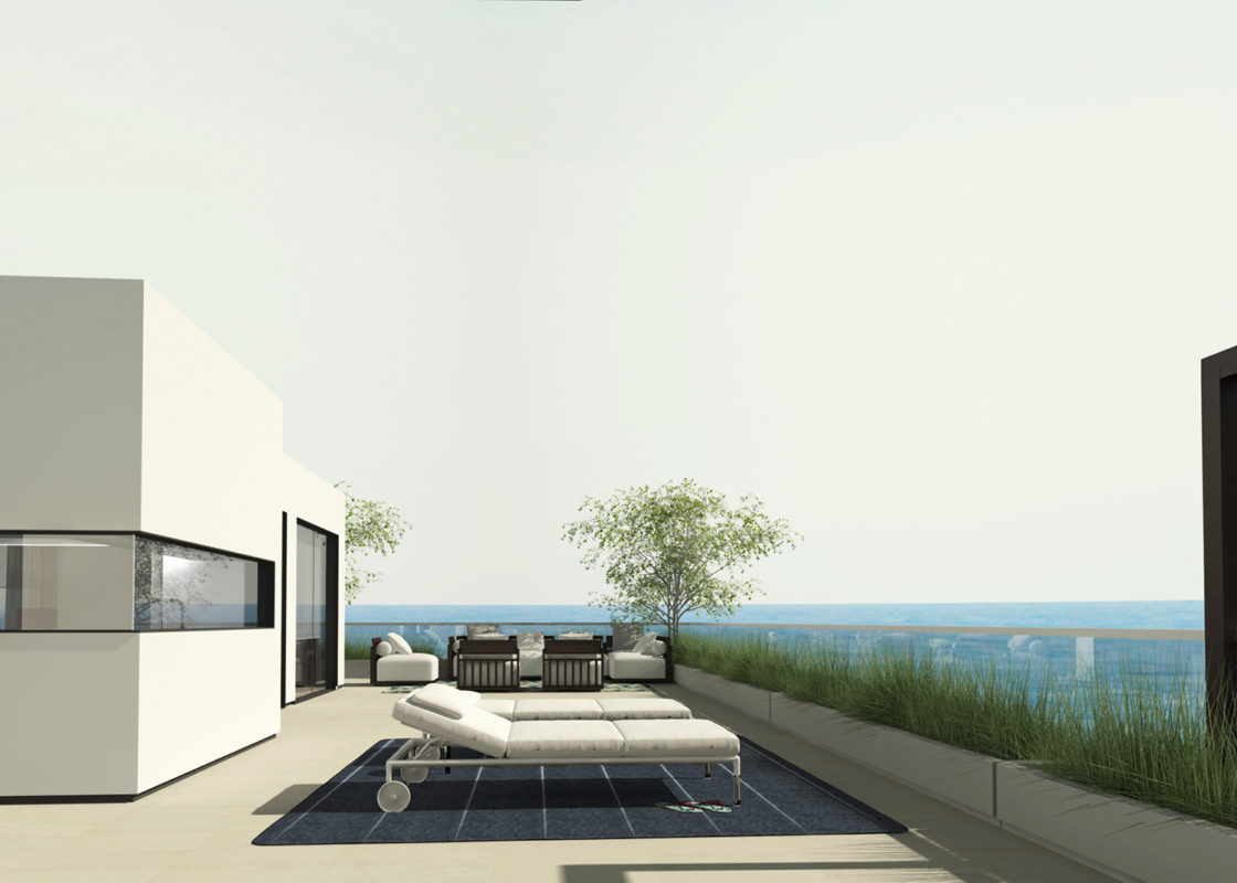 terraza apartamento con hamacas y vistas al mar arquitectura de 2020