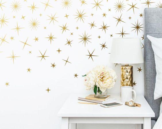 papel pintado con estrellas navideñas
