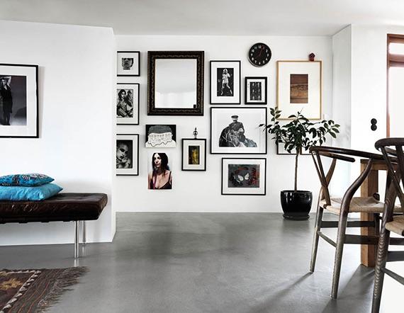 paredes con cuadros en decoración ecléctica
