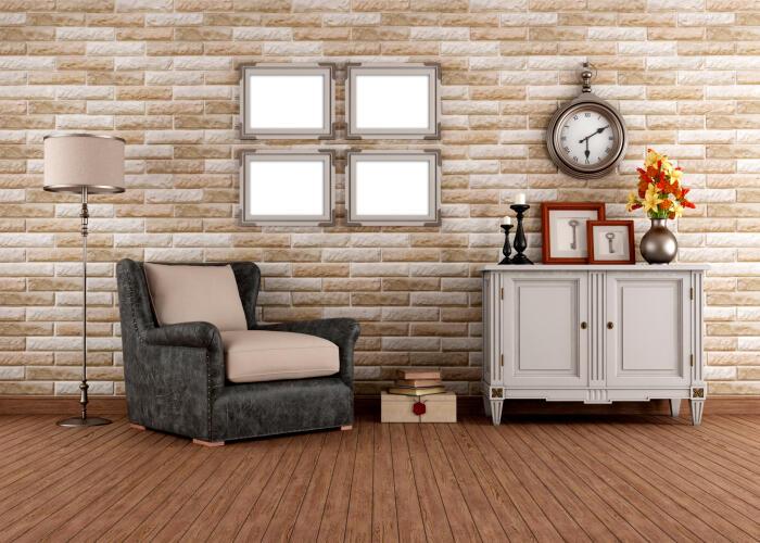 silló con suelo de madera
