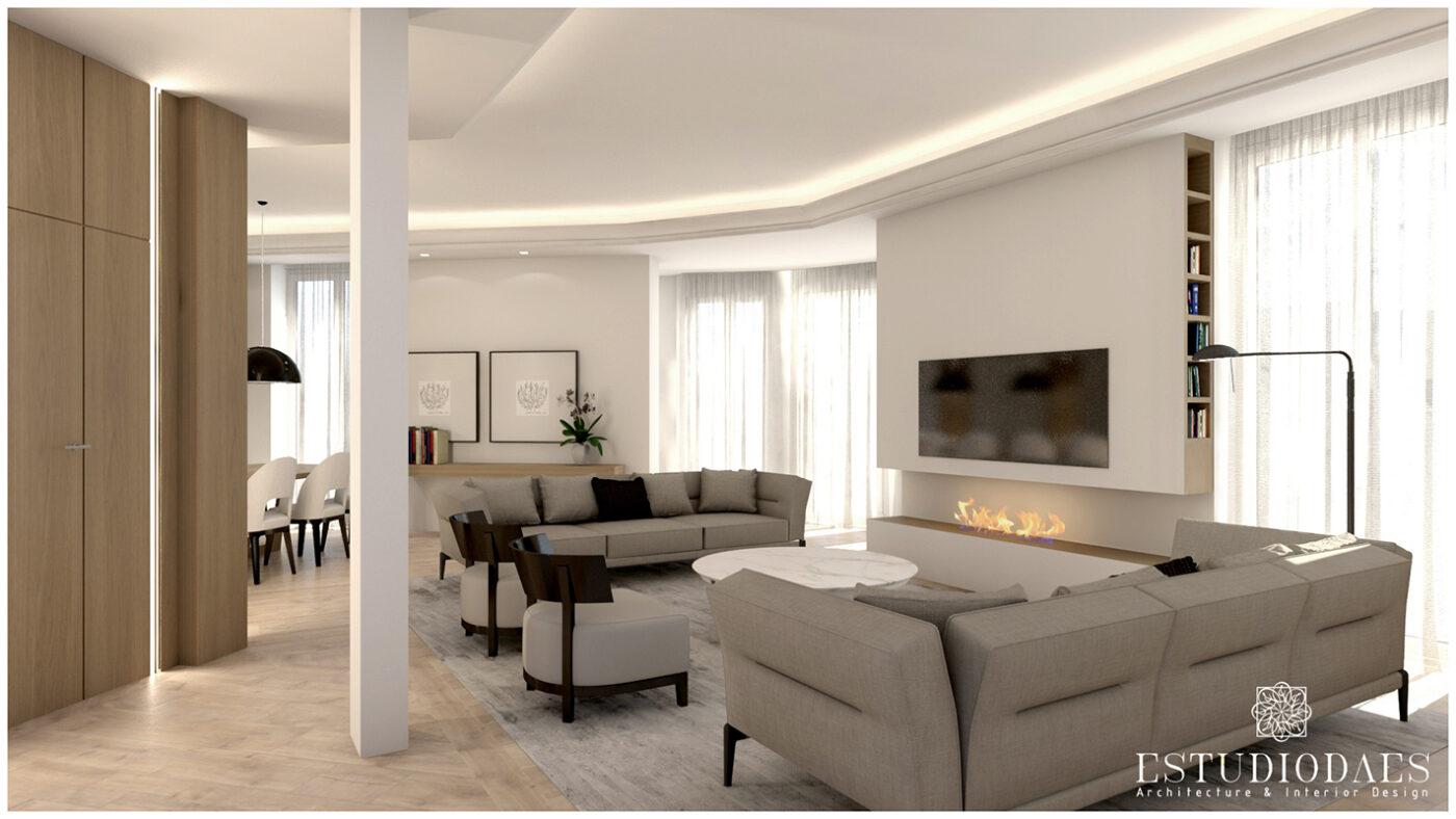sofas en salon con ventanas y mucha iluminacion